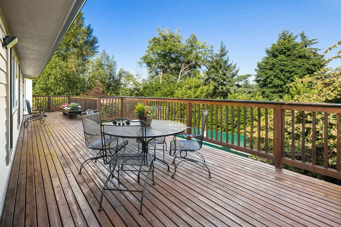 Deck and seating area