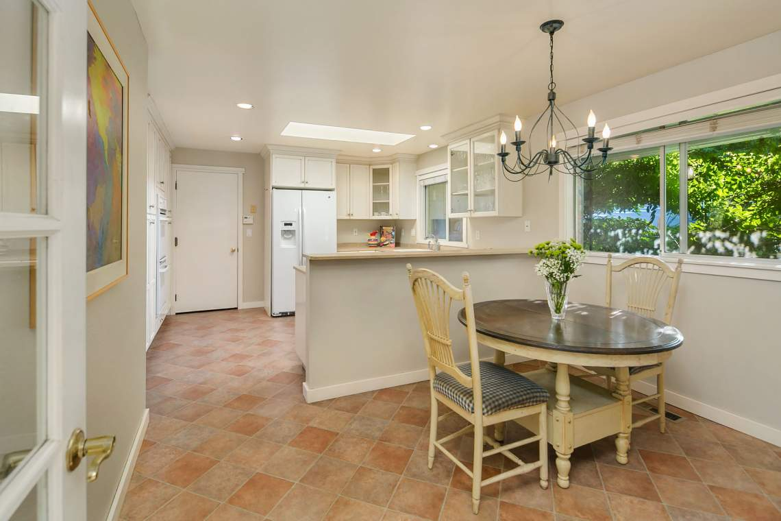 Kitchen with informal dining area
